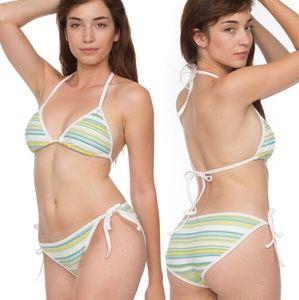 American Apparel striped bikini